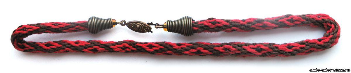 Круглое спиральное плетение кумихимо на 16 нитей Мулине: кранное...