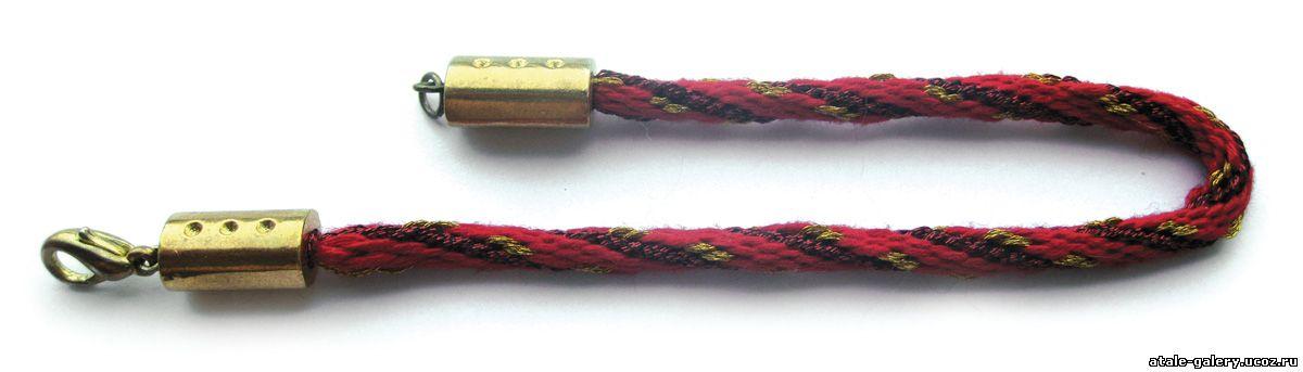 Круглое спиральное плетение кумихимо на 16 нитей Мулине: кранное льняное...
